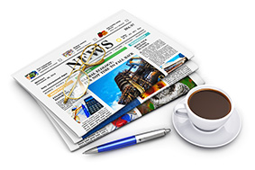 Illustration - newspapers & coffee