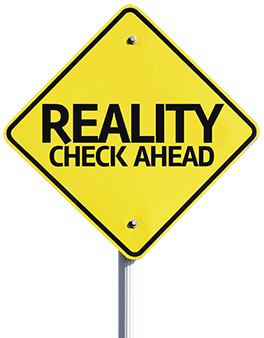 Road sign - Reality Check Ahead