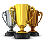 image of 3 trophies