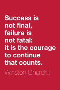 Winston Churchill quote on failure for blog