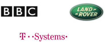 Coaching client logos - BBC Land Rover and T-Systems