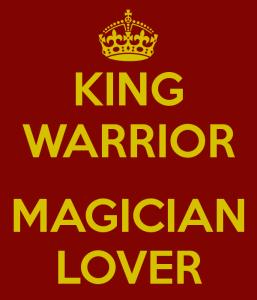 king warrior lover magician